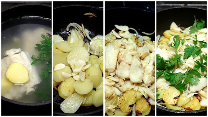Preparação do Bacalhau às Natas / Crédito: Larissa Januario, Sem Medida